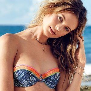 Victoria's Secret Strappy Push Up Beach Bandeau💙